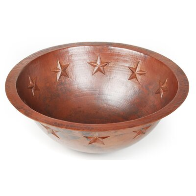 D'Vontz Texas Star Round Undermount Bathroom Sink