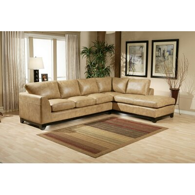 Omnia Furniture City Sleek Leather Living Room Set