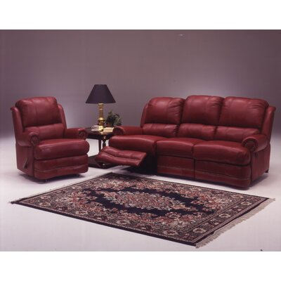 Omnia Furniture Morgan Reclining Leather Living Room Set
