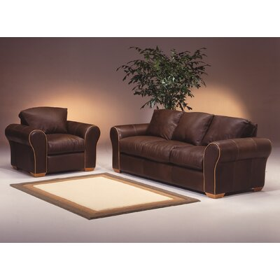 Omnia Furniture Scottsdale 4 Seat Leather Living Room Set