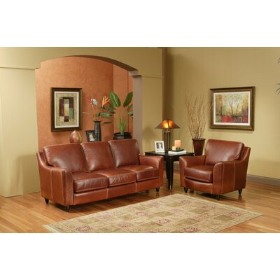 Omnia Furniture Great Texas Leather Sofa
