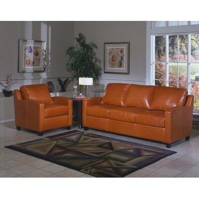 Omnia Furniture Chelsea Deco Leather Sofa