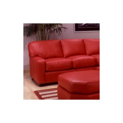 Omnia Furniture Albany Leather Sectional