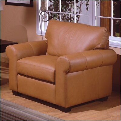 Omnia Furniture West Point Leather Chair