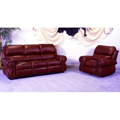 Omnia Furniture Cordova Full Leather Sleeper Sofa