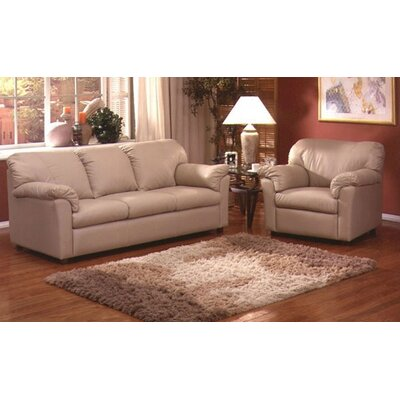 Omnia Furniture Tahoe Leather 3 Seat Sofa Living Room Set