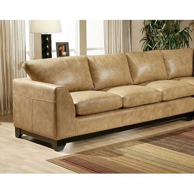City Sleek Leather Sofa