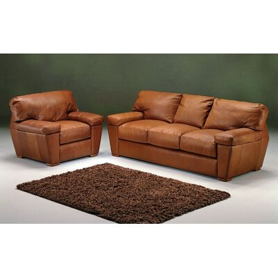 Omnia Furniture Prescott Leather Living Room Set