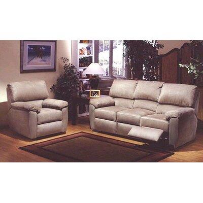 Omnia Furniture Vercelli Reclining Leather Living Room Set