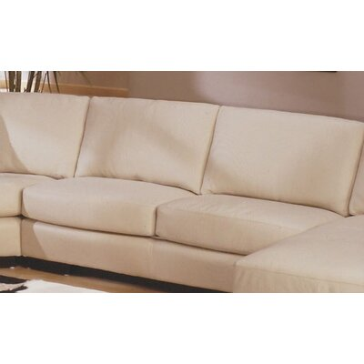 Omnia Furniture Mercedes Leather Sectional | Wayfair