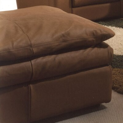 Omnia Furniture Oregon Jumbo Leather Ottoman