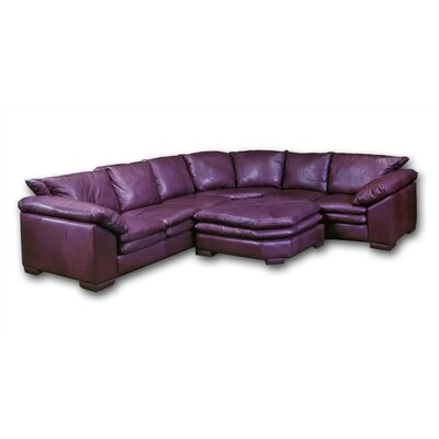 Omnia Furniture Fargo Leather Sectional