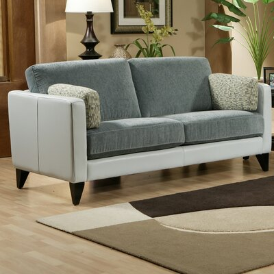Omnia Furniture Bradford Leather Loveseat