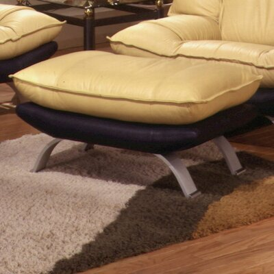 Omnia Furniture Princeton Leather Ottoman