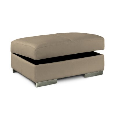 Omnia Furniture Park Tower Jumbo Leather Ottoman