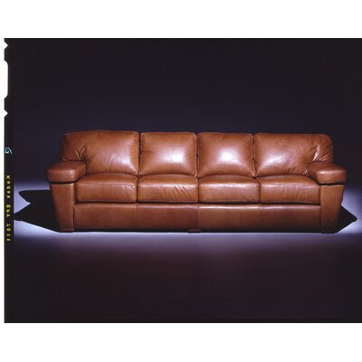 Omnia Furniture Prescott  4 Seat Sofa Leather Living Room Set