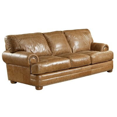 Omnia Furniture Houston Leather Sofa