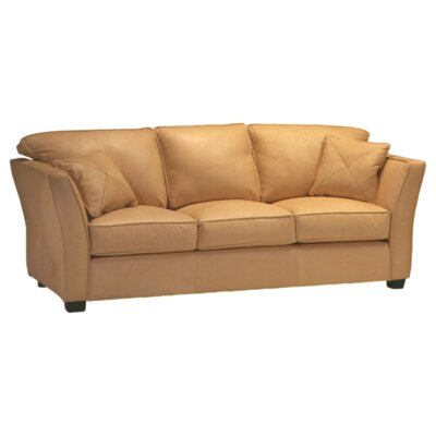 Omnia Furniture Manhattan Leather Sofa