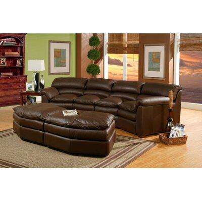 Omnia Furniture Canyon Conversation Leather Sofa