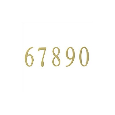 Special Lite Products Brass Address Numbers