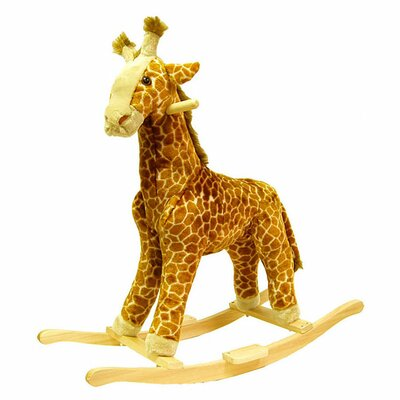 <strong>Happy Trails</strong> Giraffe Plush Rocking Animal