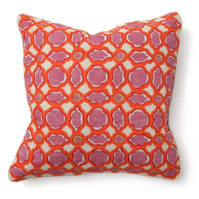 Villa Home Bohemian Chic Balance Pillow in Pink and Orange