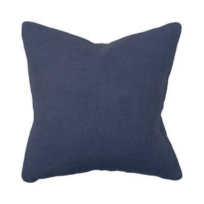 Villa Home Illusion Willow Basket Weave Pillow in Navy