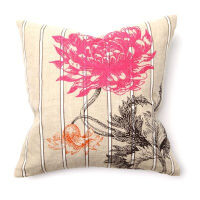 Villa Home Provence Arcadia Flower Pillow in Pink and Orange