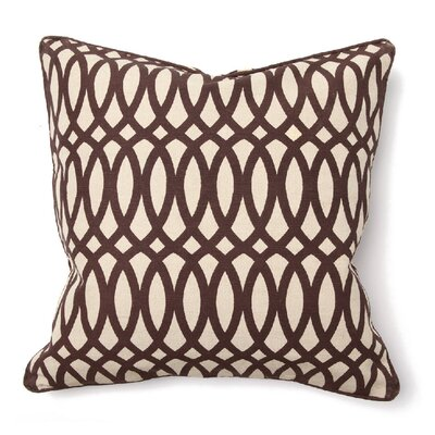 Villa Home Illusion Geo Print Pillow in Brown