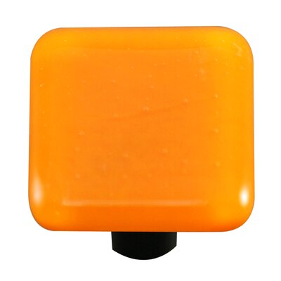 Solids Cabinet Knob in Pumpkin Orange