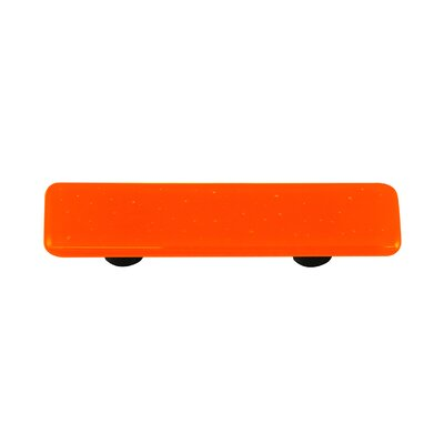 Solids Cabinet Pull in Opal Orange