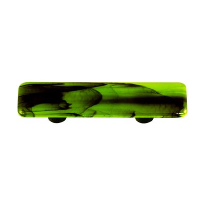 Hot Knobs Swirl Cabinet Pull in Black / Spring Green