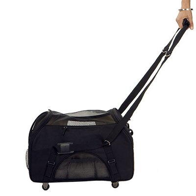 Large Wheeled Comfort Pet Carrier in Black