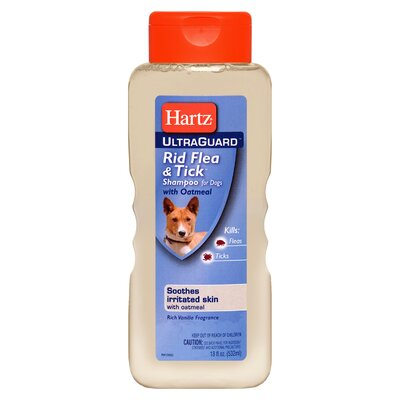 Hartz Ultraguard Rid Flea and Tick Dog Shampoo with Oatmeal
