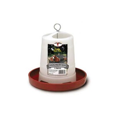 Miller Mfg Plastic Hanging Poultry Feeder in Red