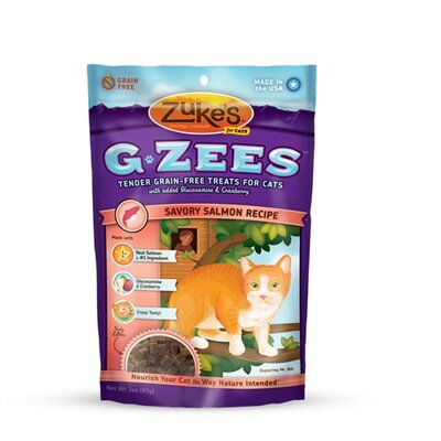 Zukes G-Zees Salmon Cat Treat