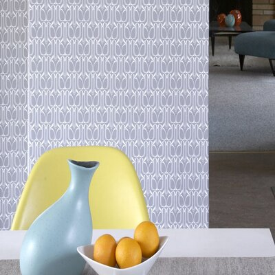 Tempaper Gio Temporary Wallpaper in Silver