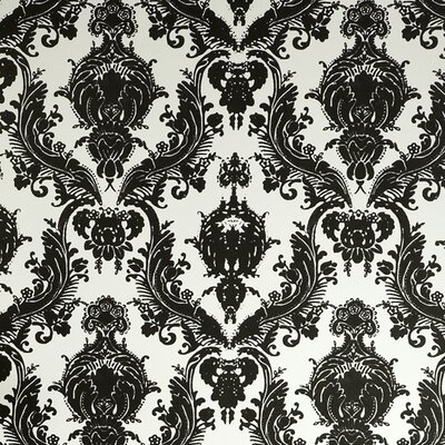 Tempaper Damsel Temporary Damask Foiled Wallpaper