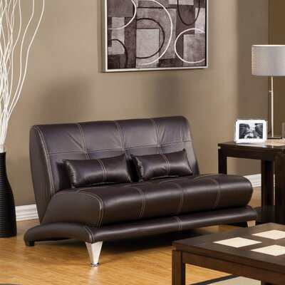 Hokku Designs Sewell Leatherette Loveseat