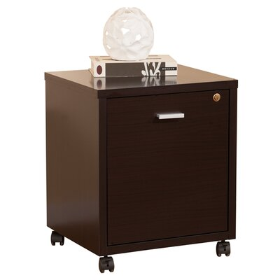 Hokku Designs 1-Drawer Collin Single Equipment Trolley/File Cabinet
