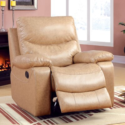 Hokku Designs Flerrita Bonded Leather Recliner
