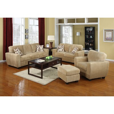 Hokku Designs Champion Fabric Padded Sofa Set
