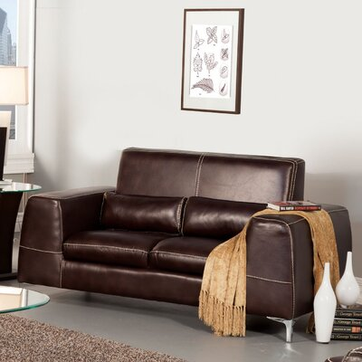 Hokku Designs Gordon Leatherette Loveseat