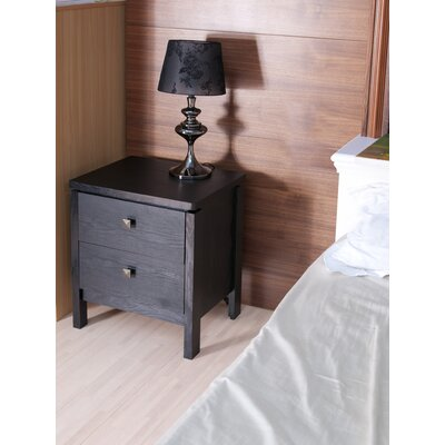 Hokku Designs Florence 2 Drawer Nightstand