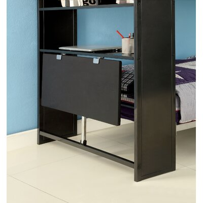 Hokku Designs Lance Twin Over Twin Bookcase Bunk Bed