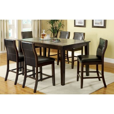 Mabel 7 Piece Counter Height Dining Set