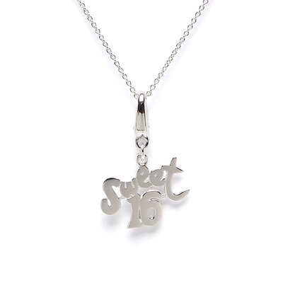 1.3 Grams Sterling Silver Sweet 16 Charm