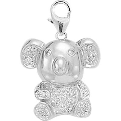 EZ Charms 14K White Gold Diamond Koala Charm