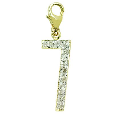 "EZ Charms 14K Yellow Gold Diamond ""7"" Charm"