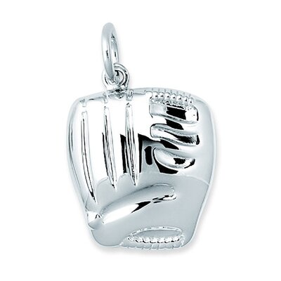 EZ Charms Sterling Silver Baseball Glove Charm